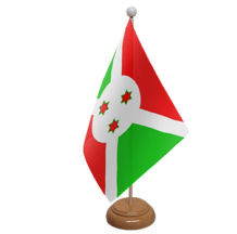BURUNDI - TABLE FLAG WITH WOODEN BASE
